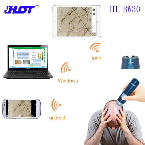 HOT HT-BW30 Wifi Wireless Skin Hair Follicles Detector