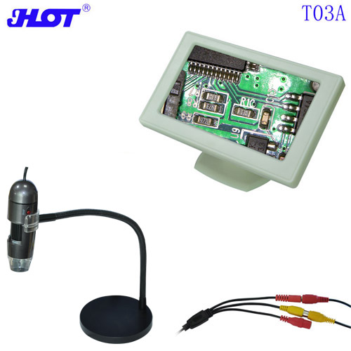 HOT T03A PAL 25-600X Dispenser Probes Manufacturer TV Microscope with 4.3-inch HD Display Remote Focus Microscope Digital Microscope PAL